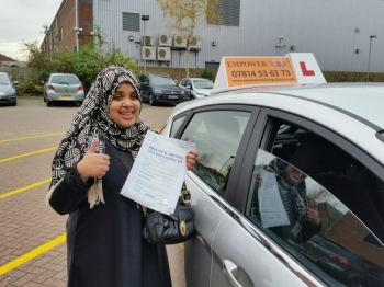 I am so happy for passing my test first time thanks a lot Kal I will recommend you to any one who wants to pass the test first time