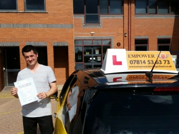 I did my driving lessons with Empower Driving School and I think the quality of training was excellent Kal was dedicated and focused on improving my driving Thanks to his help I managed to pass the practical test in a very short period of time first attempt with just 2 minor driving faults which is amazing if you want to pass your driving test quickly and with confidence then I would recommen
