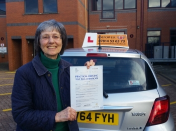 Just passed my driving test at the age of 67 Thanks Kal You have been unbelievably helpful encouraging and patient and most of all Iacute;ve really enjoyed my lessons Thanks for being an amazing teacher I will definitely recommend you to anyone looking for a driving instructor Susan