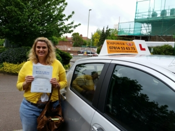 I am so happy that I passed my driving test first time Kal was patient and explained to me thoroughly everything I need to know which enabled me to pass my driving test<br />