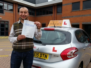Kal is an outstanding professional driving instructorHe Helped me throughout my learning journey As well as being a good instructorhe is good at boosting Learner driversacute; confidence and enhancing their driving skills I passed 1st time with just 4 minors Credit to kal I would highly recommend him to any one looking to pass their test quickly with minimum cost