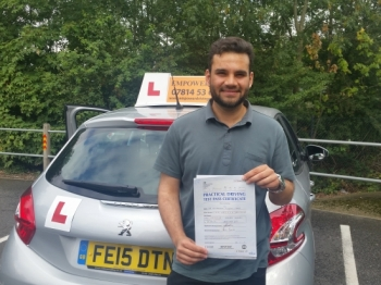 Passed my driving test first time with flying colours Thanks to Kal Really helped me a lot Highly recommended
