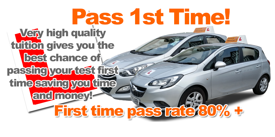 Driving instructor Cuffley giving you a GREAT chance of passing FIRST TIME